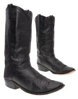 Vtg JAMA Cowboy Boots 10.5 EE Mens Black Leather Western Rodeo Boots Biker