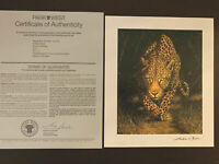 """Andrew Bone """"Silent Stalker"""" Cheetah Print With COA Seriolithograph Park West."""
