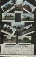 Staten Island NY Multi-View c1905 Postcard