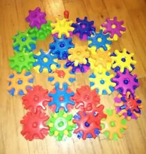 LEARNING RESOURCES Gears! Gears! Gears! Colorful Building Set ~ 61 PIECES ~ EUC