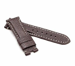 BOB Shark Leather Deployment Strap for Panerai, 24/22 mm, 4 colors, new!