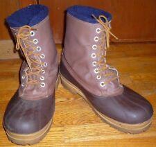 Kamik Steel Shank Rubber Duck Boots w/ Leather Shaft Wool Blend Liner Mens Sz 13