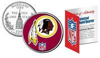 WASHINGTON REDSKINS * Officially Licensed * NFL MARYLAND U.S. State Quarter Coin