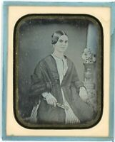 Exceptionally Rare 1850 Cuban ¼ Daguerreotype of Beautiful Damsel by C. LaCroix