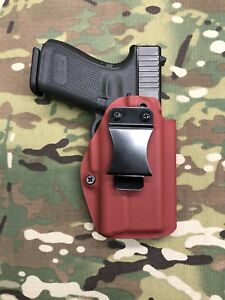 Blood Red Kydex IWB Holster for Glock 19 23 RMR Cut Surefire XC1