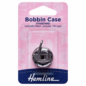 Hemline Thread Bobbins Sewing Machines with front loading  Metal Case H159