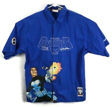 Marvel Punisher Shirt L collared Johnny Blaze button down Short Sleeve Blue Vtg