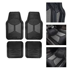 Universal Fitment Floor Mats For Auto Car Suv Van No Slip Rubber Gray Black Fits 2012 Toyota Corolla