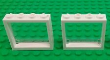 *NEW* Lego White 4x4x1 Stud Windows Panes Trains Buildings Houses - 2 pieces
