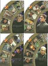 Stargate SG1 Season 4 Heroes In Action set 4 cards  H1 H2 H3 H4 autograph sketch