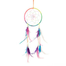 Rainbow Colored Mix Color Dream Catcher Wall Hang Decor Feathers Beads Gift Idea