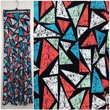 LuLaRoe SILKY Black White Triangles  Maxi Skirt Strapless Dress SZ SMALL CC244