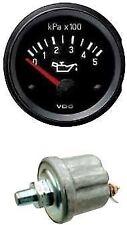 VDO Oil pressure gauge with sender, 12volt, 52mm 2 inch 500kpa