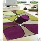 GRACE RUG 618 PURPLE GREEN Large Quality Modern Floor Mat Carpet FREE DELIVERY*