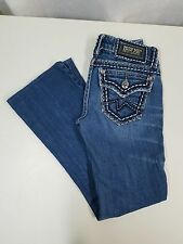 Miss Me Irene Boot Cut Distressed Jeans Thick Stitch Style JPD1017-2 Size 25