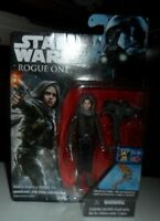 NEW ON CARD STAR WARS ROUGE ONE SGT JYN ERSO ( JEDHA ) ACTION FIGURE