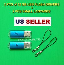 32gb USB Flash Drive With Keychain High Speed Memory Stick Thumb Drive US 2pcs