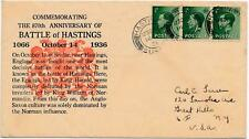 Gb 1936 Keviii Battle of Hastings 870th Anniversary Souvenir Cover