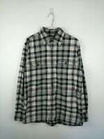 VINTAGE MENS SONOMA FLANNEL SHIRT SIZE M MULTI CHECK LONG SLEEVE 100% COTTON TOP