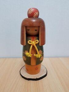 Japan Made Creative Kokeshi doll with wood base(22 cm)
