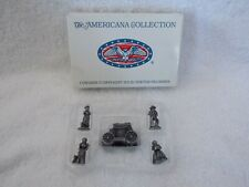 1994 Americana Collection 5 Solid Pewter Figurines