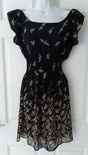 SELECT, UK 14, Brand New With Tags, Bird Print, Black Tea Dress!