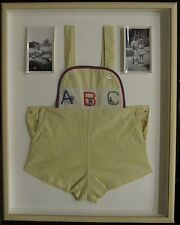 VINTAGE BABY BOY OUTFIT ABC 1949 HIGHLAND PARK IL LICENSE PLATE PHOTOS DECORATE