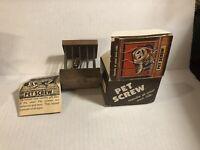Vintage 1978 Pet Screw Novelty Gag Gift Complete in Box