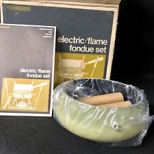 Fondue Pot VTG JCPenney Penncrest Electric/Flame Burner Set NOS Mid Century 1970
