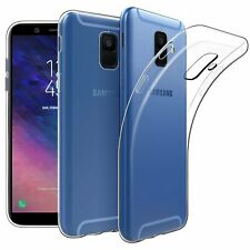 For Samsung Galaxy A6+ Case Clear Gel Cover Glass Screen Protector & Stylus Pen