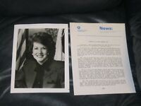 Elizabeth Dole Autographed Photo with Bio Senator