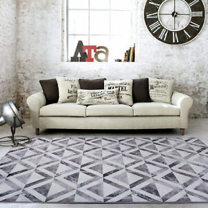 Smoke Printed Patchwork Cowhides Soft Floor Rug Carpet Mat Decoration 200x290cm