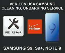 Verizon USA Cleaning, Unbarring Service for Samsung S9, S9 Plus, Note 9