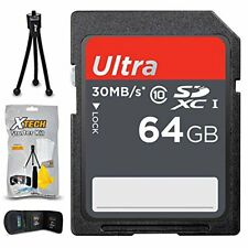 64GB SD Memory Card for Canon Powershot G9 X Mark II, G7 X Mark II, SX540 SX420