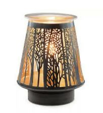 Scentsy In The Shadows Full Size Wax Warmer Natural Forest Motif New In Box