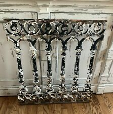 Antique Victorian Cast Iron Railing Handrail Architectural Salvage Decor
