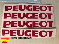 Peugeot 106 206 308 208 etc.. kit 4 pegatinas ideal para manetas Tuning sticker