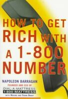 How to Get Rich With a 1-800 Number by Brady, Frank Book The Fast Free Shipping