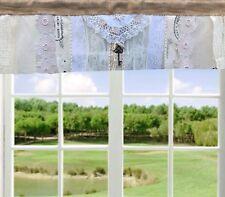 Burlap Lace Valance Shabby Cottage Chic Farmhouse Rustic Burlap Window