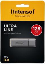 Intenso USB Stick 128GB Speicherstick Ultra Line USB 3.0 silber