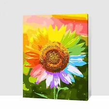 "Paint By Number On Canvas DIY Acrylic Painting Kit 16""*20"" with Frame Sunflower"