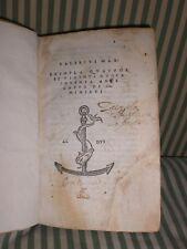 ALDO MANUZIO-EDIZIONE ALDINA-RARISSIMA 1514 - VALERIUS  MAX ..(LIBRO BELLISSIMO)