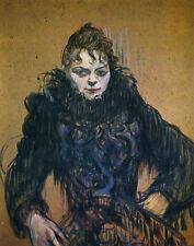 Lautrec Toulouse de Henri Woman With A Black Feather Boa Print 11 x 14     #4663