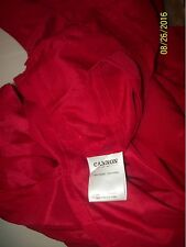 CANNON DEEP Red QUEEN Size Shiny 4Pc Bed Sheet Set Flat &Fitted Sheets-NWOT