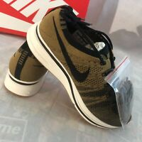 Nike Flyknit Trainer Men's Size 4 Running Shoes Runners Golden Beige Gum NEW