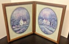 Country House Pictures Wood Frames Set Size 15 x 12