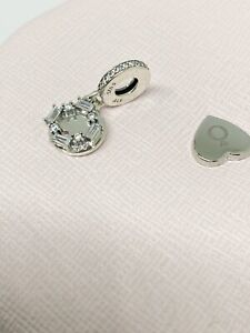 Authentic Genuine PANDORA You Melt My Heart Silver Hanging Charm - 797553CZ