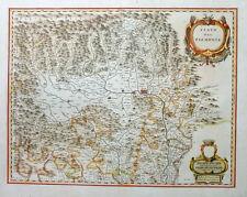 ITALIEN ITALY PIEMONT STATO DEL PIEMONTE TURIN ALPEN ALPS KOLORIERT BLAEU 1640