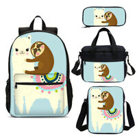 Harley Quinn Girls School Backpack Set Shoulder Bag Lunch Box Crossbody Pen Bag