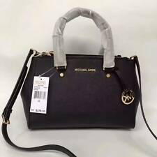 Auth Michael Kors Small Sutton Saffiano Leather Satchel Handbag Black